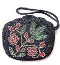 Womens hand beaded clutch purse in with beautiful flower design from China beauty accessories online exchange company
